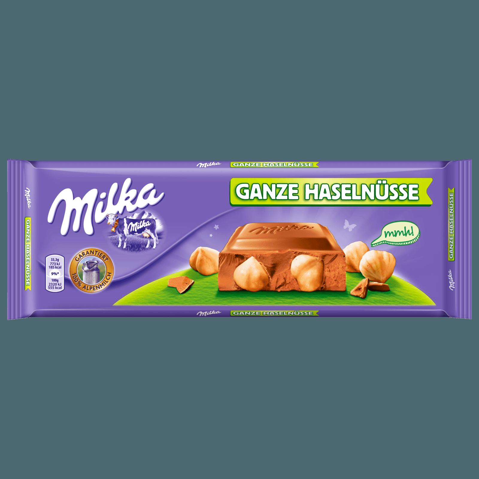 Milka Großtafel Ganze Haselnüsse 300g