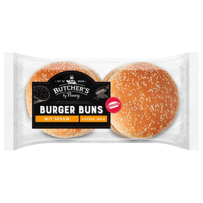 Butcher's Burger Burger Buns mit Sesam 4 Stück
