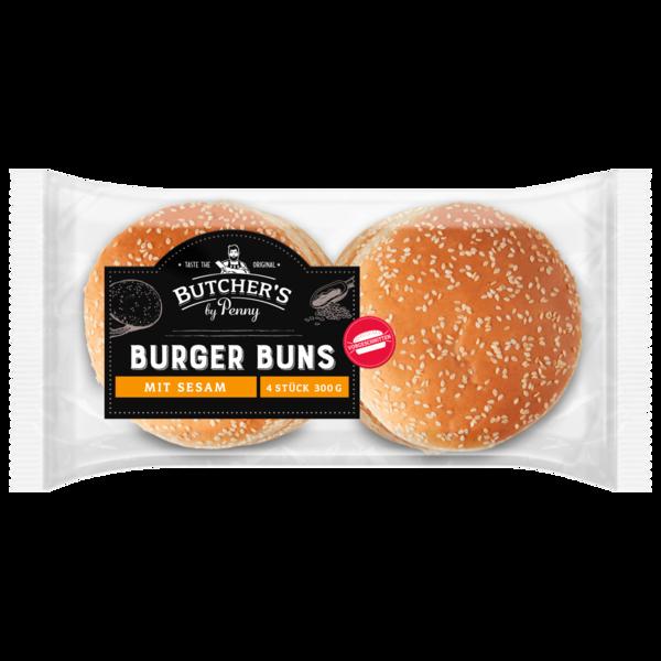 Butchers Burger Buns mit Sesam 4 Stück