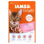 Iams Delights mit Lachs&Kabeljau in Sauce 85g