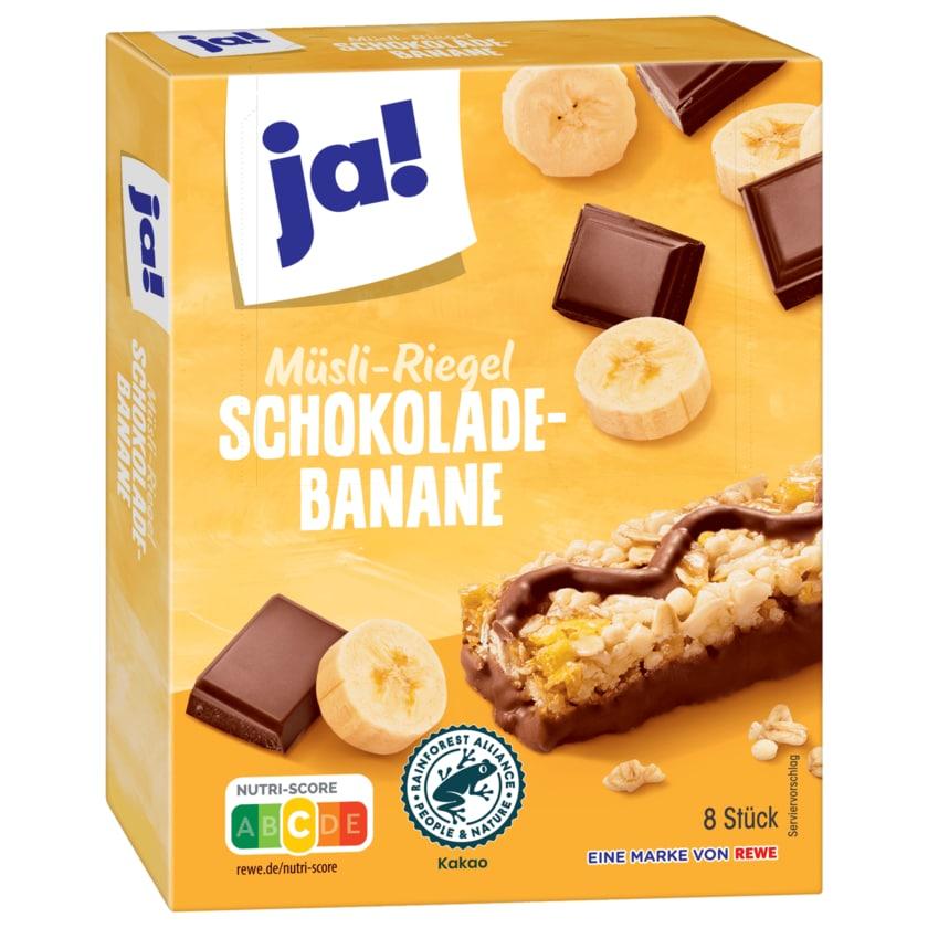 ja! Müsli-Riegel Schokolade-Banane 8x25g
