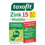 Taxofit Zink + Histidin + Vitamin C Depot Tabletten 40 Stück