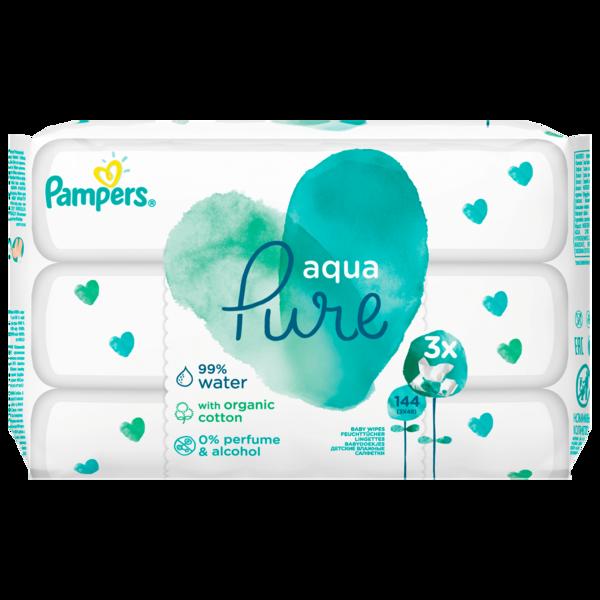 Pampers Aqua Pure 3x48 Stück