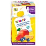 Hipp Bio Erdbeere-Heidelbeere in Apfel und Babykeks 4x90g