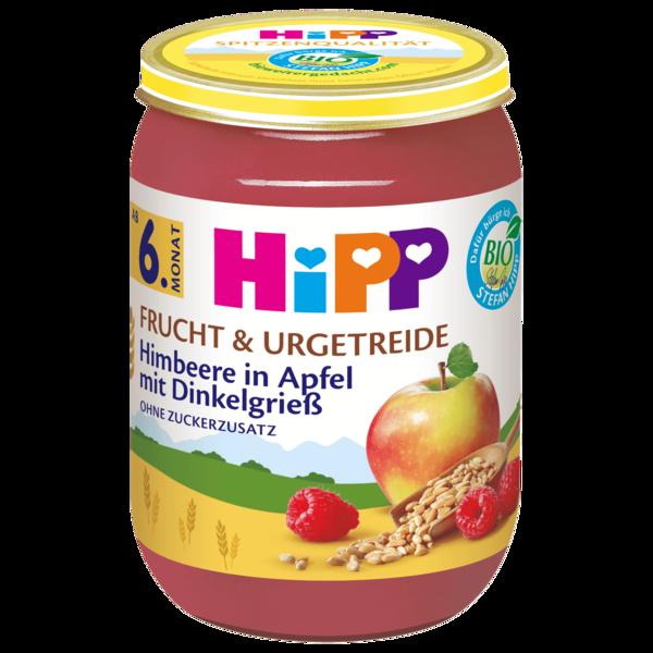 Hipp Bio Himbeer in Apfel mit Dinkelgries 190g