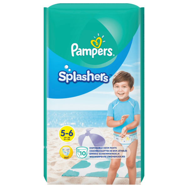 Pampers Splashers Gr.5-6 14+kg 10 Stück
