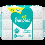 Pampers Feuchttücher Sensitive Protect 3x52 Stück