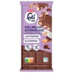 REWE frei von Vollmilchschokolade mit Gebäckstücken laktosefrei glutenfrei 100g