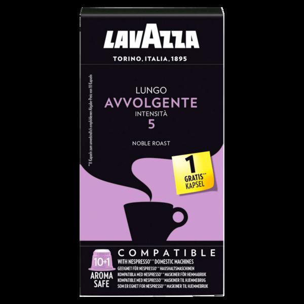 Lavazza Lungo Avvolgente Intensita 5 61g, 10 Kapseln +1 gratis