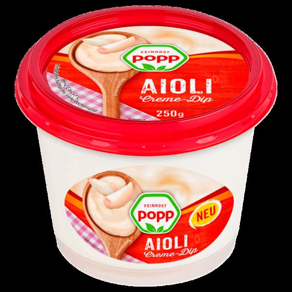 Feinkost Popp Aioli Creme-Dip 250g