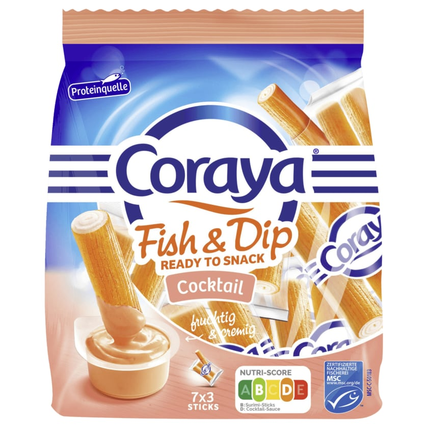 Coraya Fish and Dip mit Cocktailsauce 215g