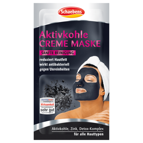 Schaebens Aktivkohle Creme Maske Sanfte Reinigung 8ml
