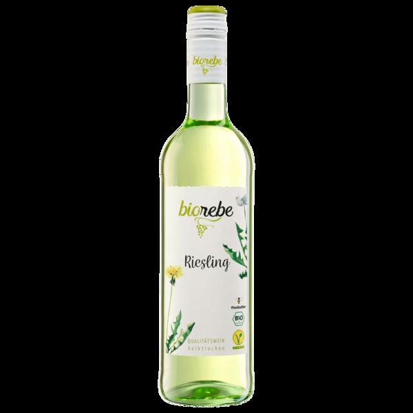 Biorebe Weißwein Riesling Bio vegan halbtrocken 0,75l