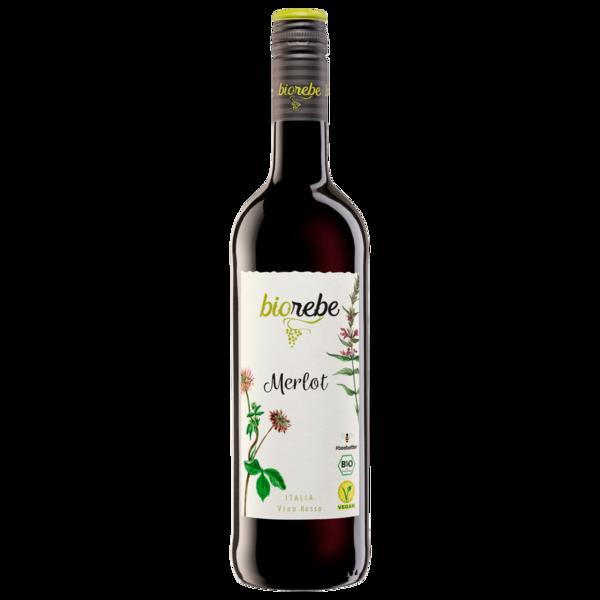 Biorebe Rotwein Merlot IGP trocken 0,75l