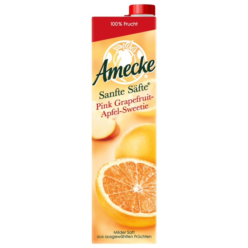 Amecke Sanfte Säfte Pink Grapefruit- Apfel-Sweetie 1l