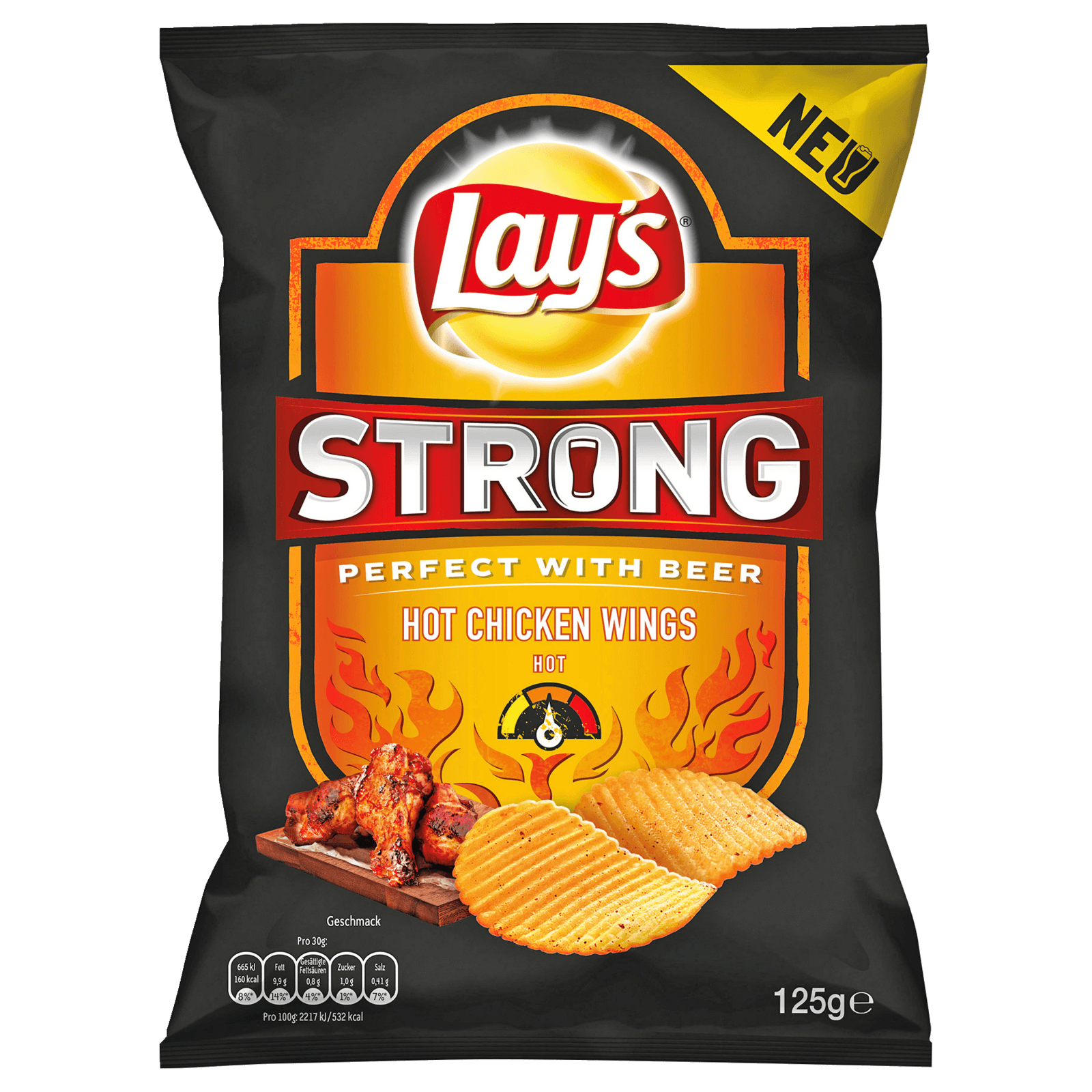 Lay's Strong Hot Chicken Wings 125g