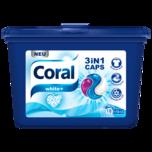 Coral Waschmittel 3in1 Caps White 16+2 WL 486g