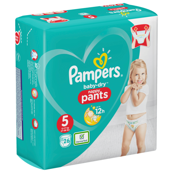 Pampers Baby Dry Pants Windeln Gr.5 Junior 12-17kg 26 Stück