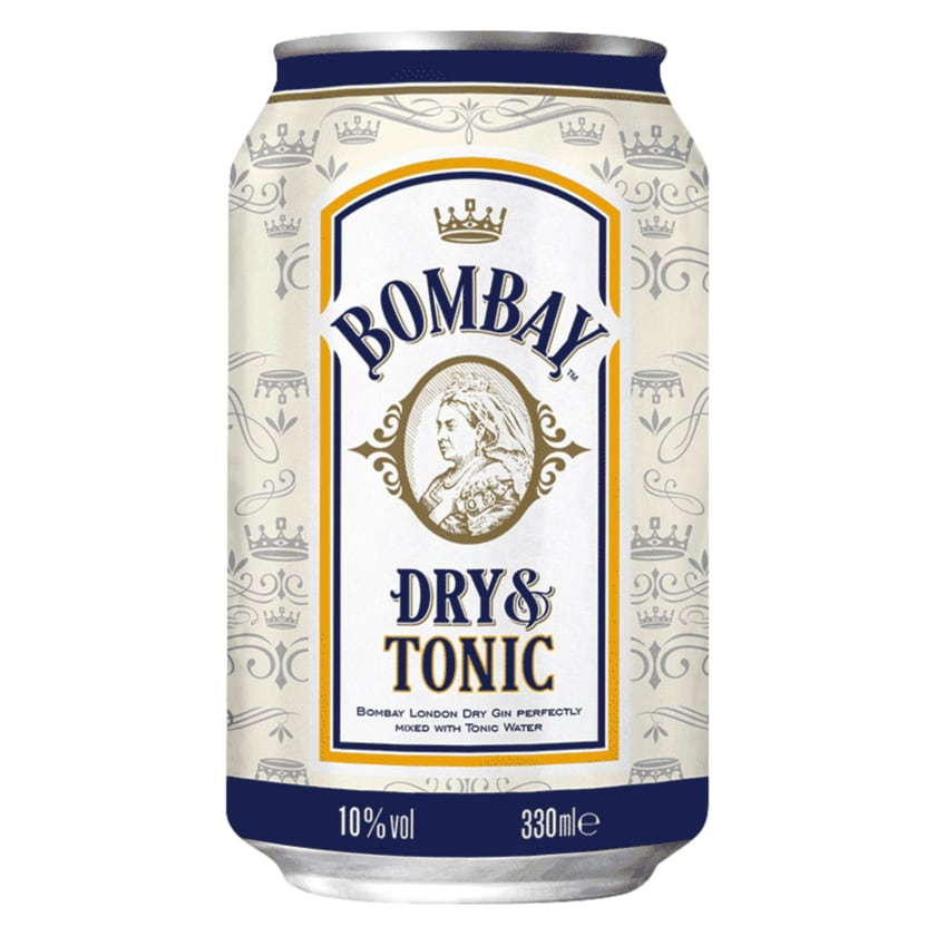 Bombay Sapphire Dry Gin & Tonic 10% 0,33l