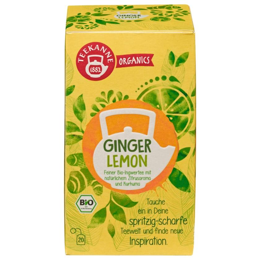 Teekanne Organics Bio Tee Ginger Lemon 36g, 20 Beutel