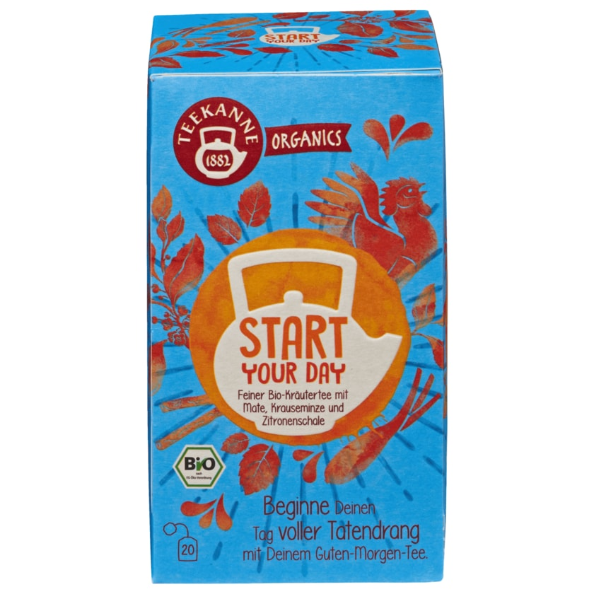 Teekanne Organics Bio Tee Start Your Day 20 Beutel, 36g