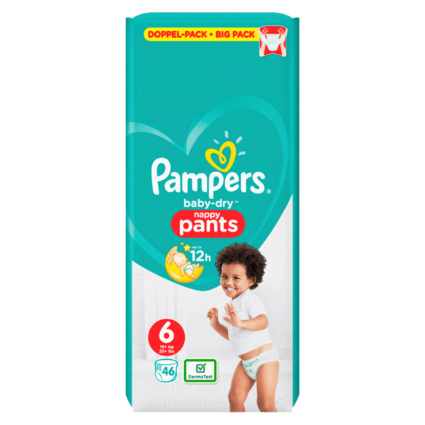 Pampers Baby Dry Pants Windeln Gr. 6 Extra Large 15+ kg DP 46ST