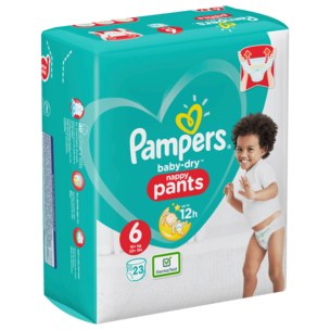 Pampers Baby Dry Pants Windeln Gr.6 Extr.Large 15+kg 23 Stück