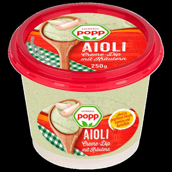 Feinkost Popp Aioli Dip mit Kräutern 250g