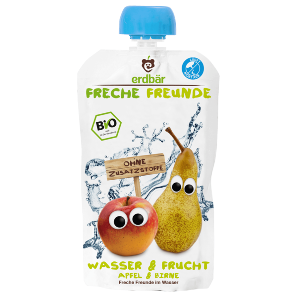 Erdbär Freche Freunde Bio Wasser & Frucht Apfel-Birne 200ml
