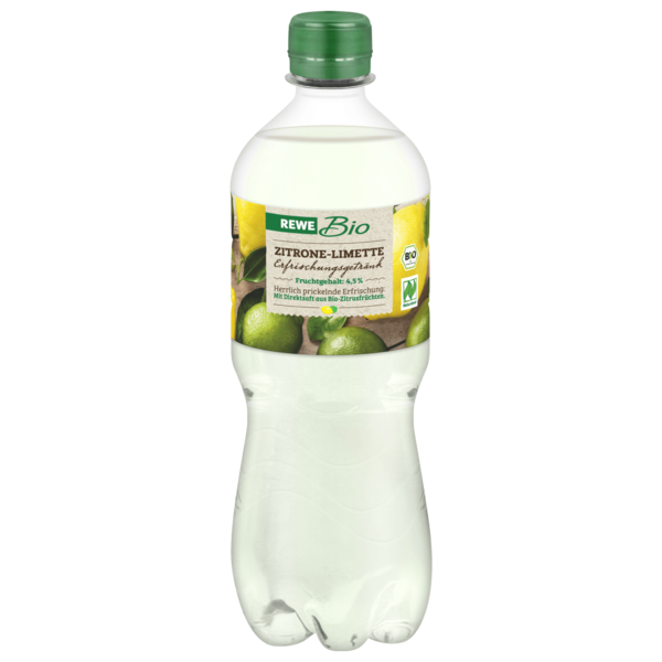 REWE Bio Zitrone-Limette Erfrischungsgetränk 0,75l
