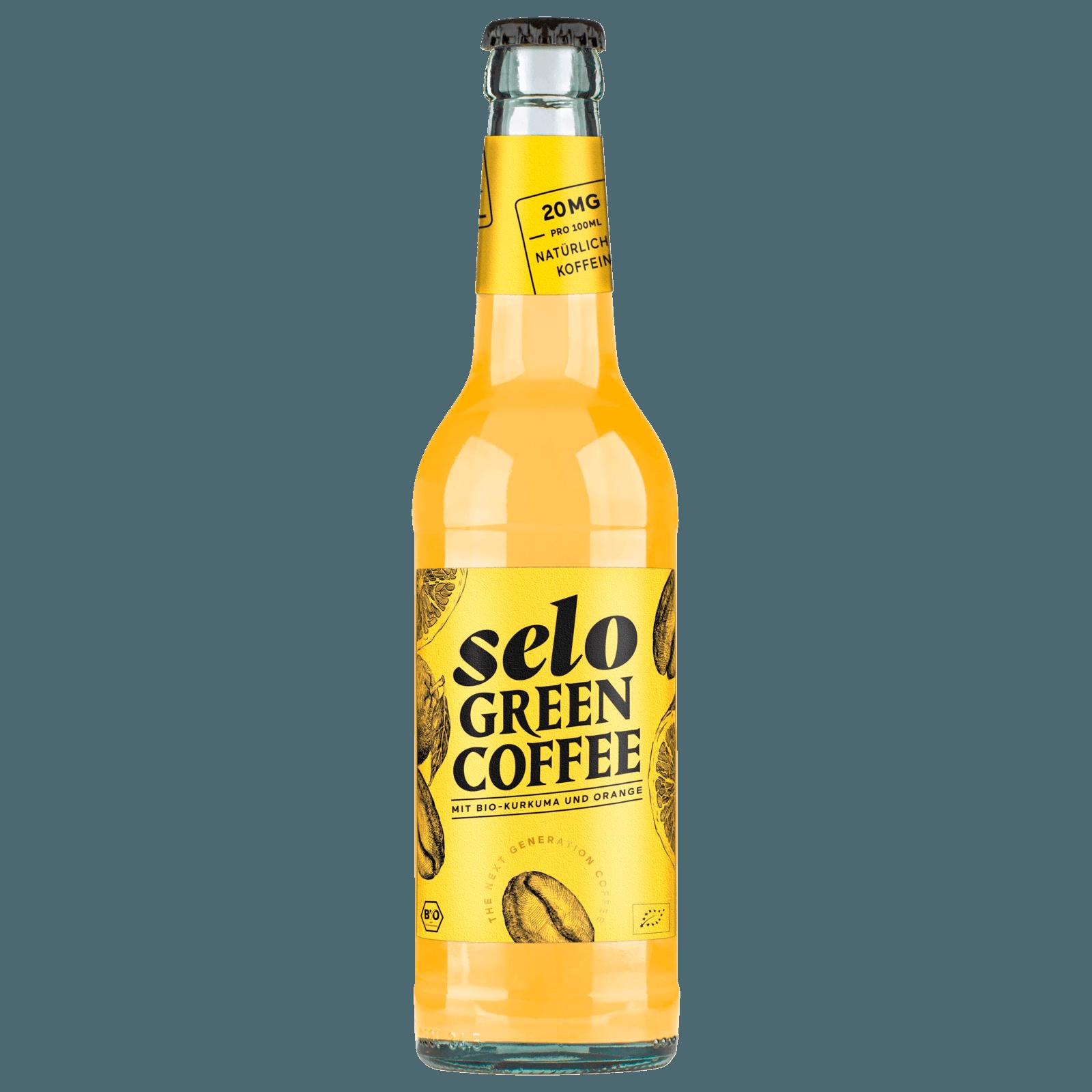 Selo Green Coffee mit Kurkuma und Orange 0,33l