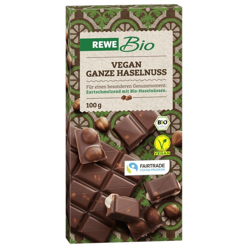 REWE Bio Schokolade Ganze Haselnuss vegan 100g