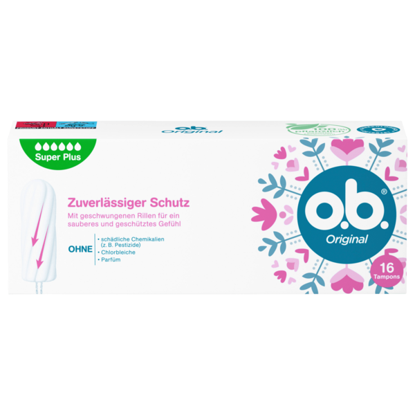 o.b. Tampons Original Super Plus 16 Stück