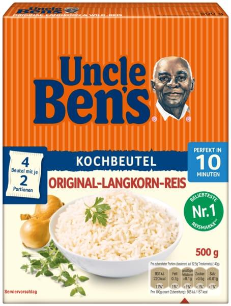 Uncle Ben's Spitzen-Langkorn-Reis im Beutel 10-Minuten 4x125g