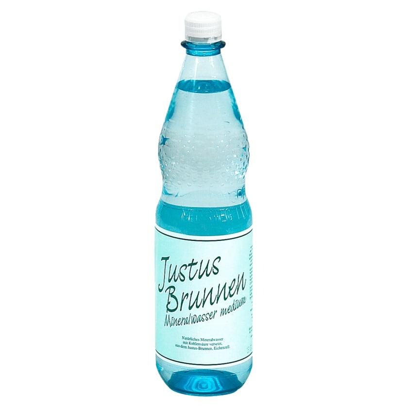 Justus-Brunnen Mineralwasser Medium 1l