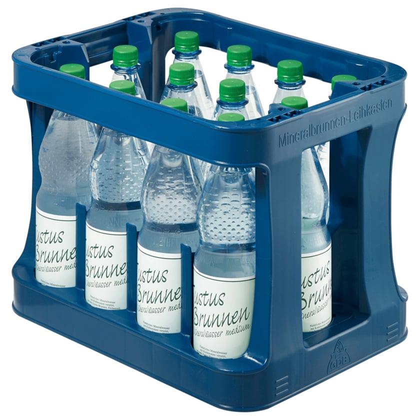 Justus-Brunnen Mineralwasser Medium 12x1l
