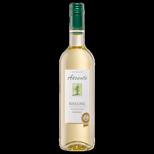 Moselland Akzente Weißwein Riesling QbA halbtrocken 0,75l