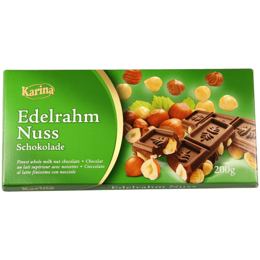 Karina Schokolade Vollmilch Nuss 200g