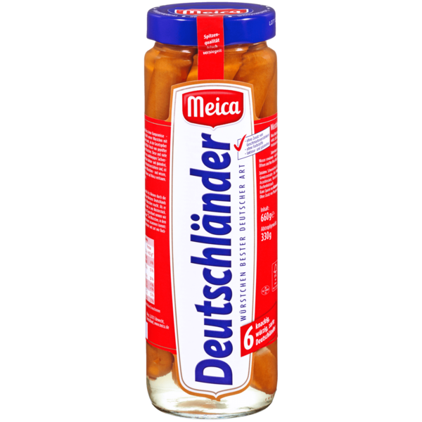 Meica Deutschländer Würstchen 330g, 6 Stück