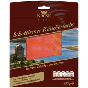 Krone Fisch Echter schottischer Räucherlachs Premium 150g