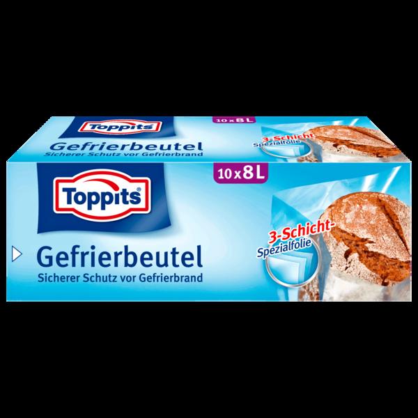 Toppits Gefrierbeutel 8l, 10 Stück