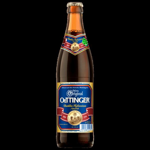 Oettinger Hefeweizen naturtrüb dunkel 0,5l