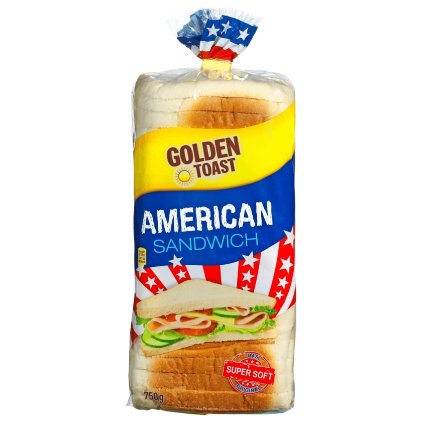 Golden Toast American Sandwich 750g
