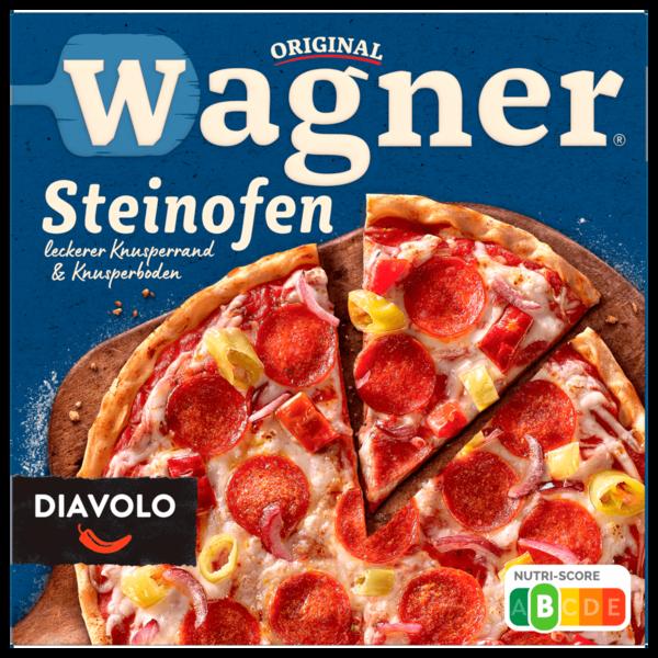 Original Wagner Steinofen Pizza Diavolo Peperoniwurst scharf 350g