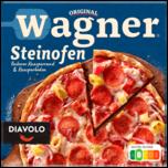 Original Wagner Steinofen Pizza Diavolo Peperoniwurst scharf tiefgefroren 350g