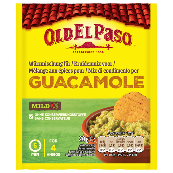 Old El Paso Guacamole Season Mix 20g