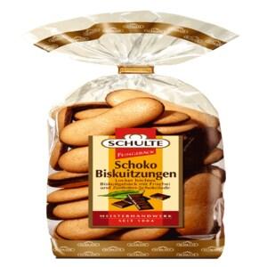 Schulte Feingebäck Schoko-Biskuitzungen zartbitter 200g