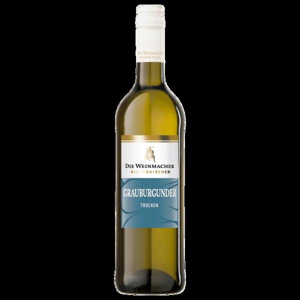 Die Weinmacher Weißwein Grauburgunder QbA trocken 0,75l