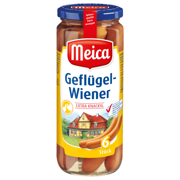Meica Geflügel-Würstchen extra knackig 250g