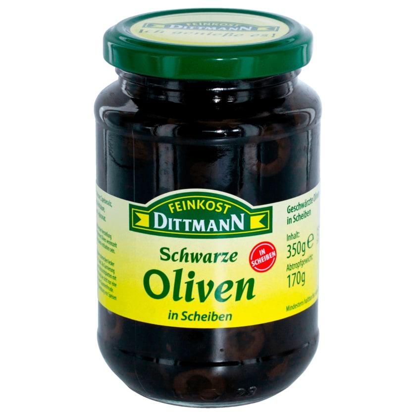 Feinkost Dittmann Oliven schwarz in Scheiben 170g